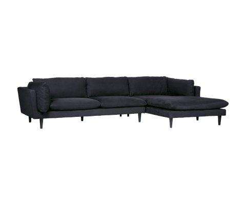 Canapé d'angle droit design tissu RICKY - Woood