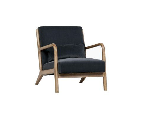 Fauteuil lounge velours MARK