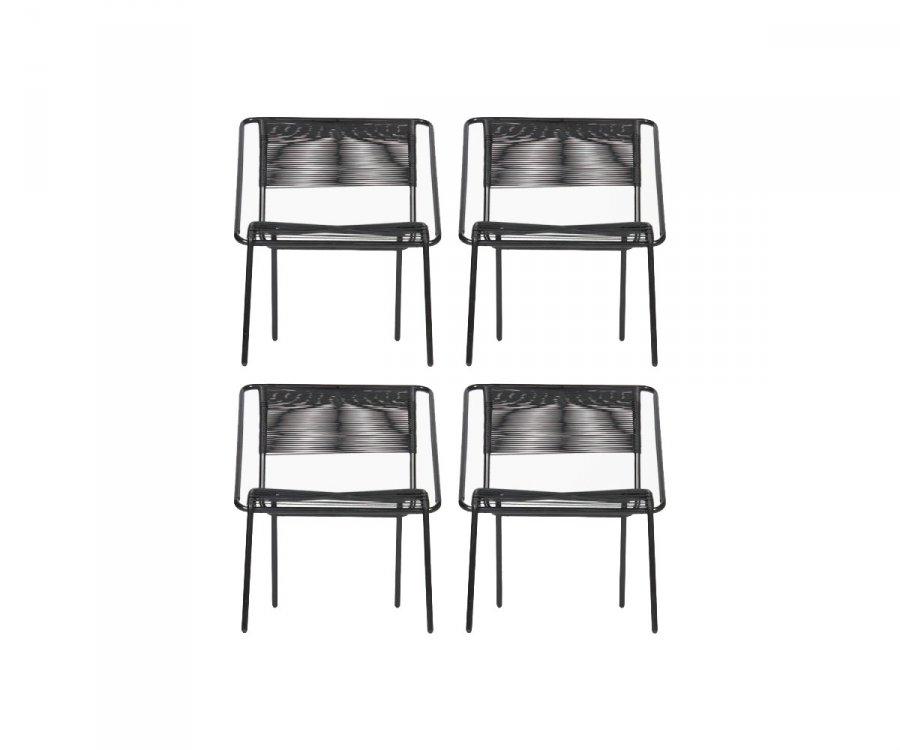 4 chaises jardin design