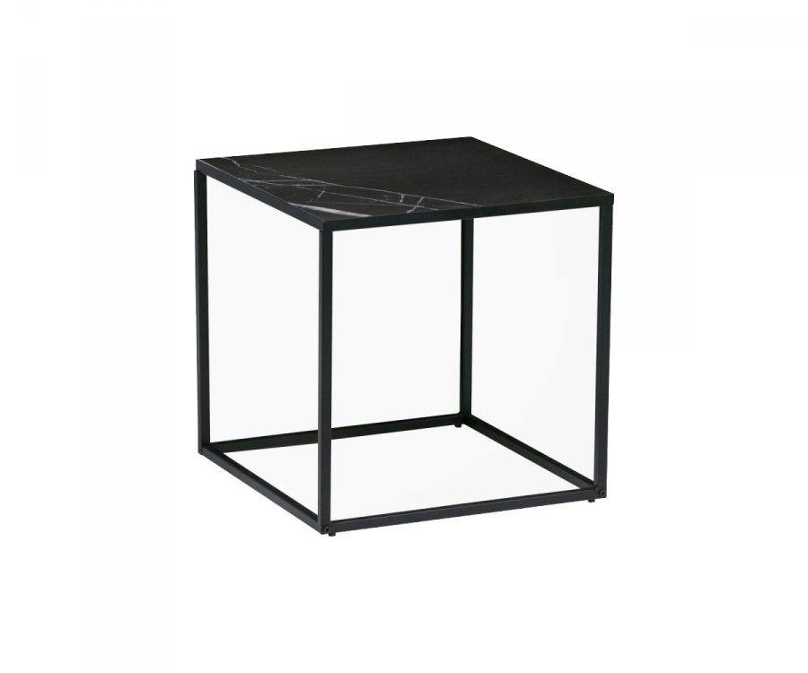 Table basse carrée 45cm plateau style marbre NESTOR - Vtwonen