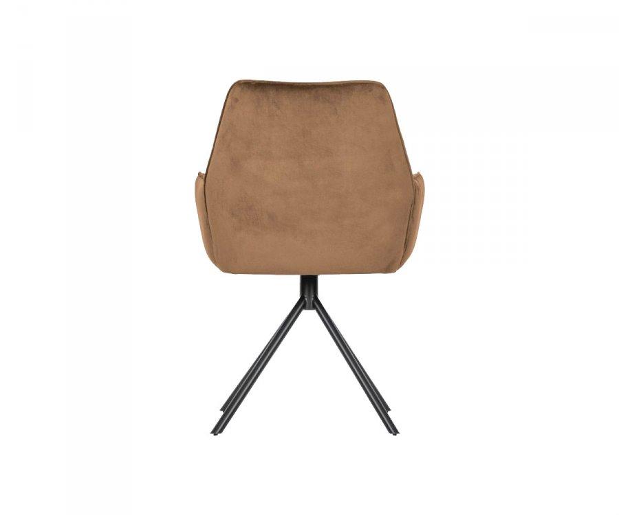 Lot 2 chaises salle à manger velours BERAM - Woood