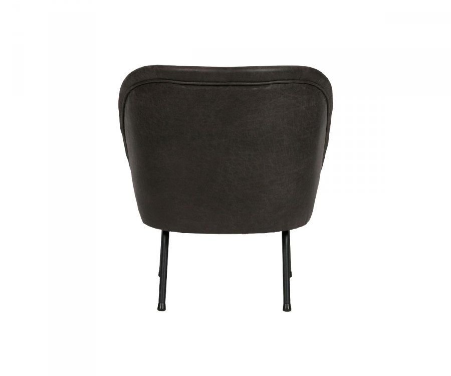 Fauteuil cocktail cuir VOGUE