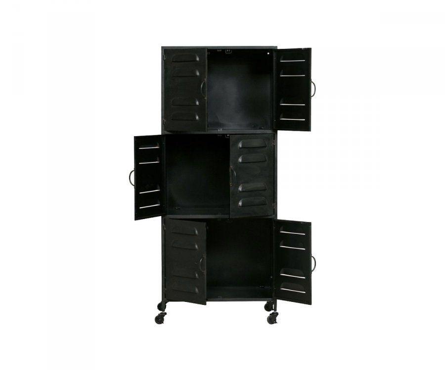 Armoire locker en métal style industriel BOAZ - Woood