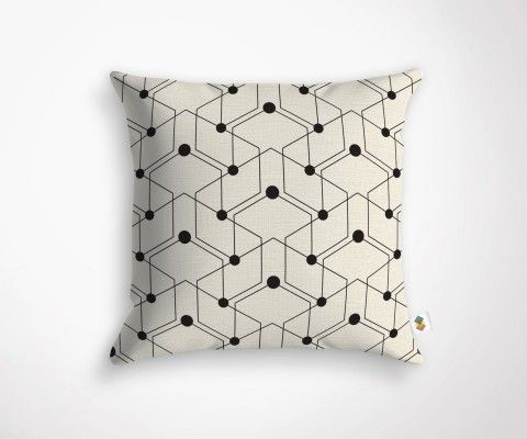 Geometric cushion cover PLATON
