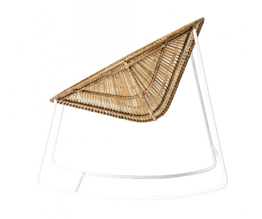 Rocking chair rotin OLA - Bloomingville