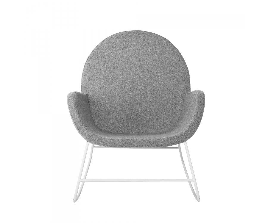 Rocking chair moderne en tissu VAYA - Bloomingville