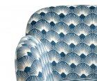 Fauteuil rétro tissu rembourré art déco GRACE - Nordal