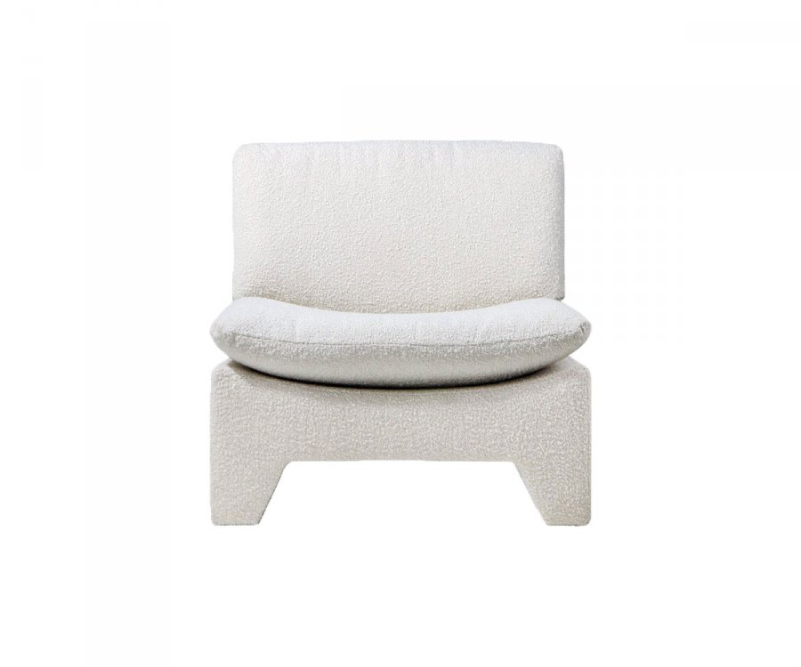 Fauteuil lounge douillet style rétro avec coussin - LAMIO
