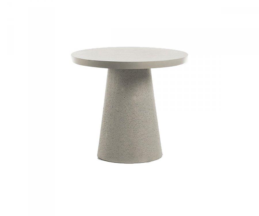 Table à manger ronde extérieur ciment 90cm RIZEO