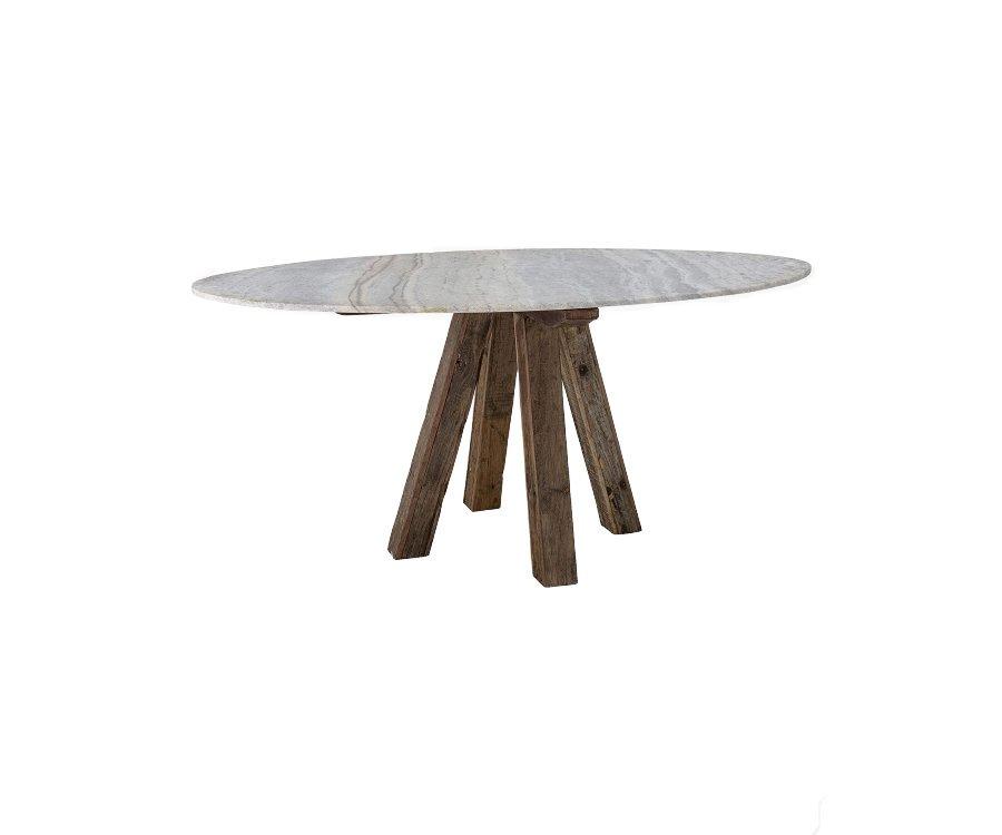 Table à manger bois et marbre SAFA - Bloomingville