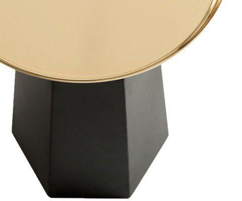 Table d'appoint art déco plateau laiton SERVITO