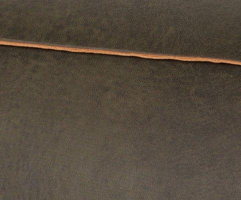 Repose-pieds cuir recyclé style rétro COLORADO