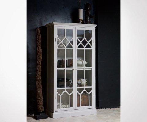 Vitrine classique bois blanc et verre DRY - BePureHome