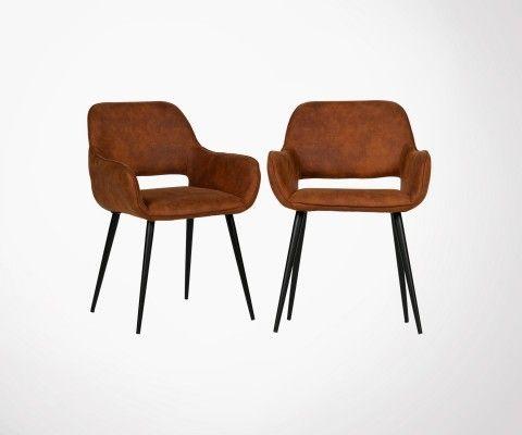 2 chaises design rembourrées tissu JELL