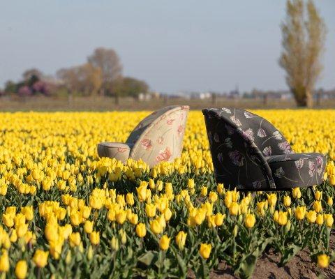 Fauteuil crapaud rétro fleuris VOGUE - BePureHome