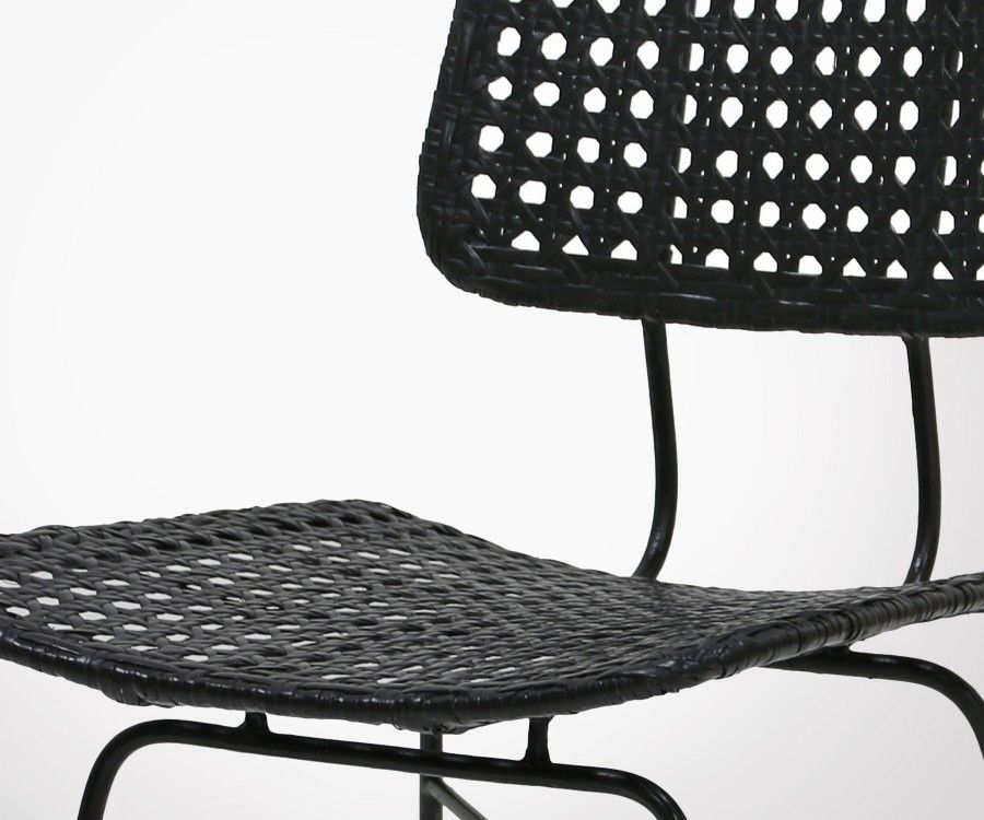 Chaise rotin naturel style rétro ARABESK - HK Living