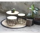 Table d'appoint bois et métal PIXEL M - Label 51