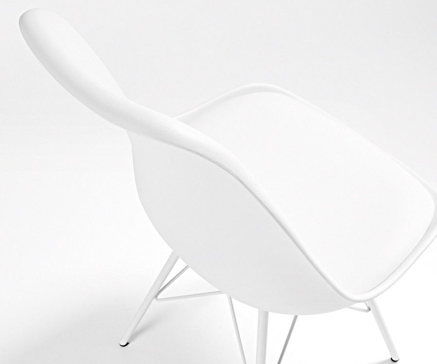 Chaise jaune plastique pied métal ACCESS