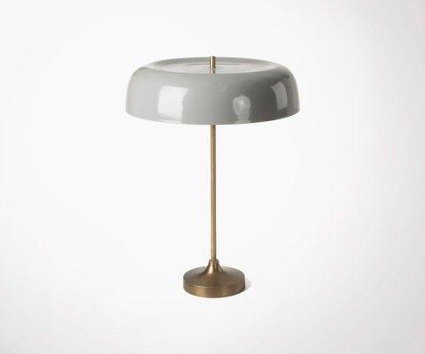 Lampe de table abat-jour métal gris BERTY
