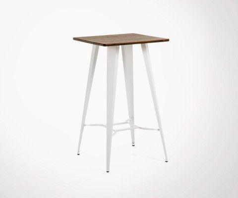 Table haute bois métal COSTY - 60cm