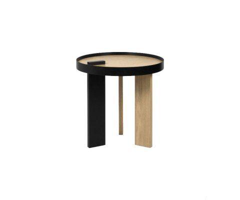 Table d'appoint ronde bois métal BRUNO - 50 cm