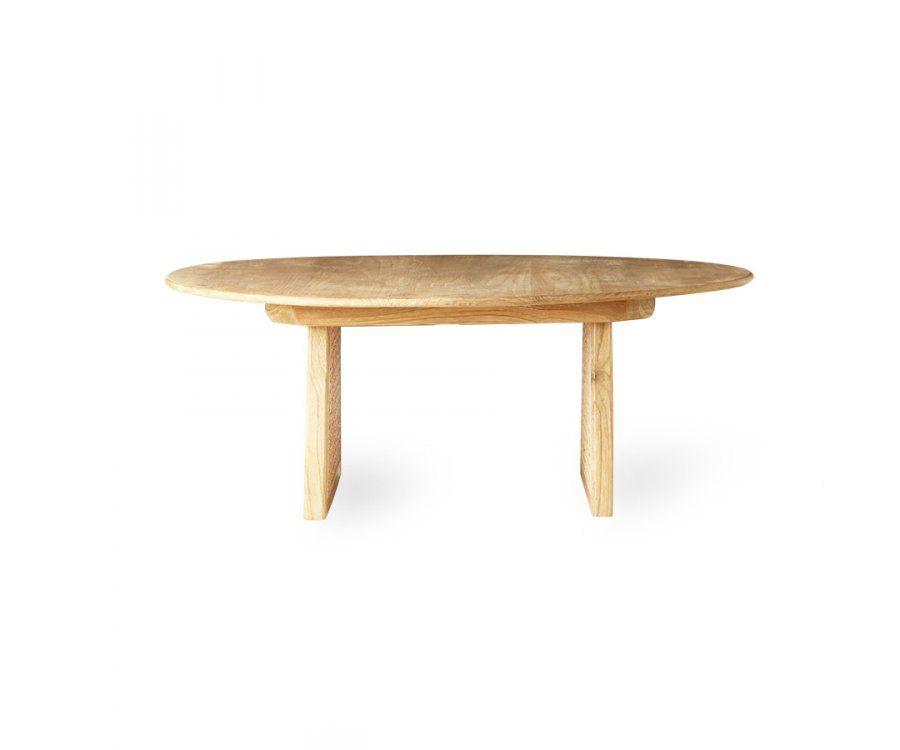 Table basse 80cm rétro bois cannage WELBER - HK Living