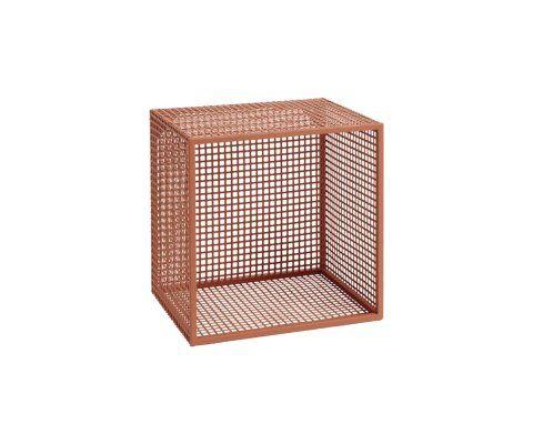 Lot 2 étagères à fixer mesh métal WIRE - Nordal