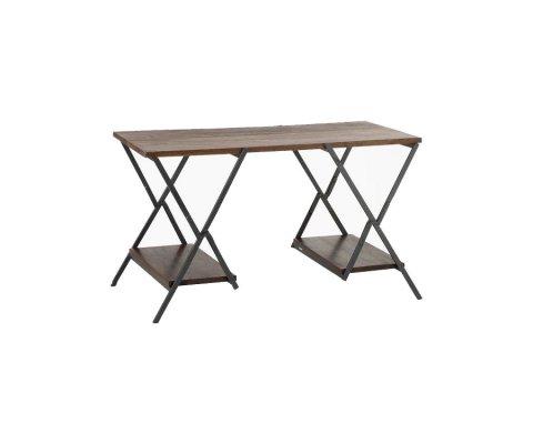 Bureau moderne en bois et métal noir TEMERIS