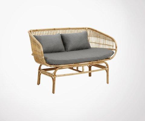 Petit canapé design en rotin JAZE - Nordal