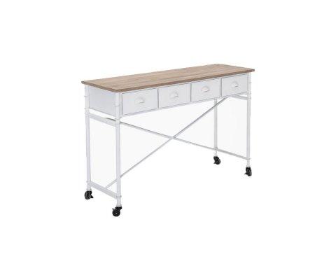 Bureau sur roulettes avec tiroirs métal et bois ZAG - Bloomingville