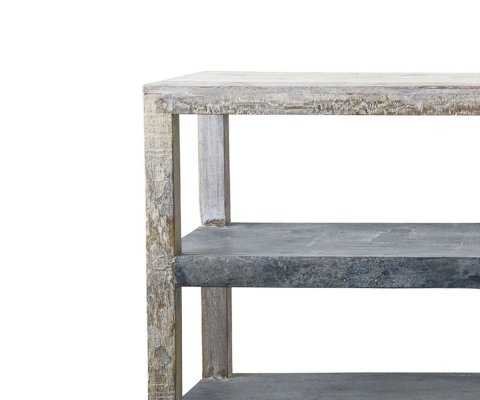Etabli bois recylcé et métal ALBERTON - Bloomingville