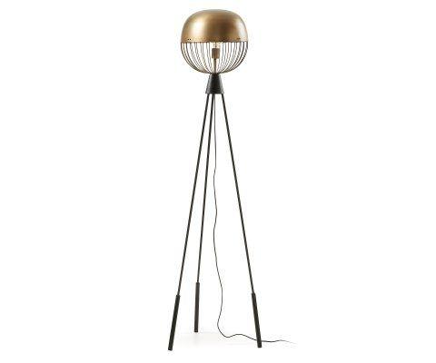 Lampadaire design métal noir et laiton SYNEL