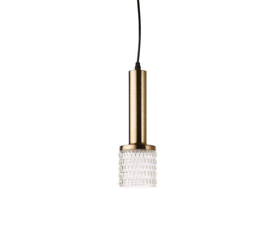 Lampe suspendue 30cm verre et laiton FRONNE - HK Living