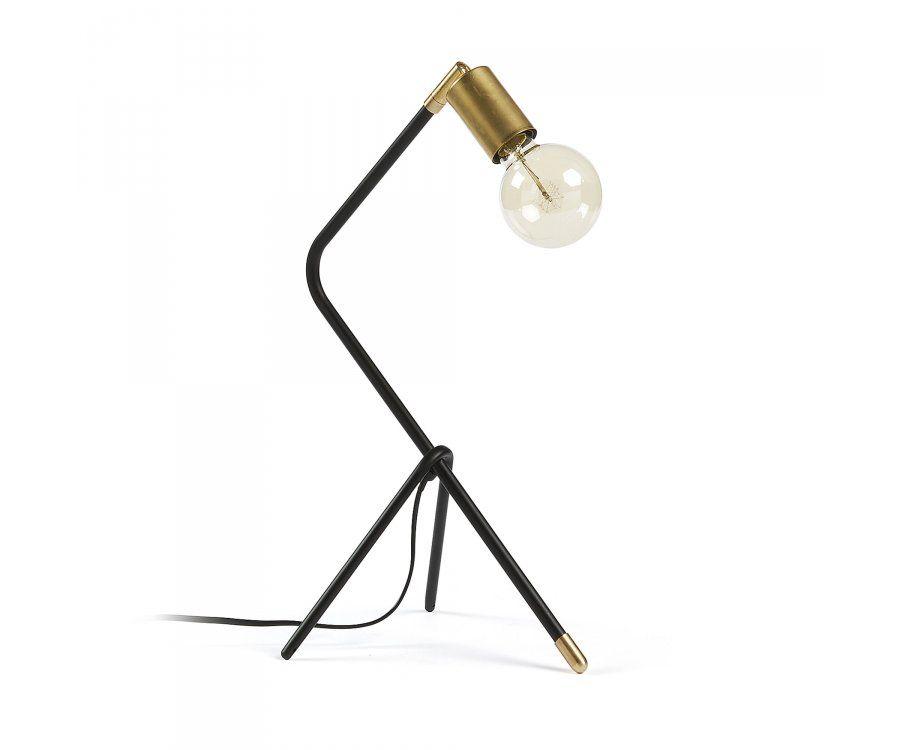 Lampe à poser métal noir design rétro LARA