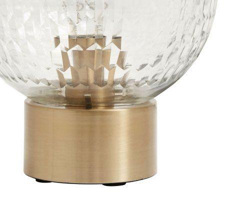 Lampe de table sphère verre scultpé DISK - Nordal