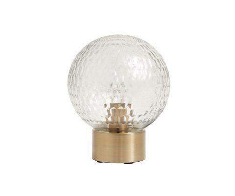 Lampe de table sphère verre sculpté DISK - Nordal