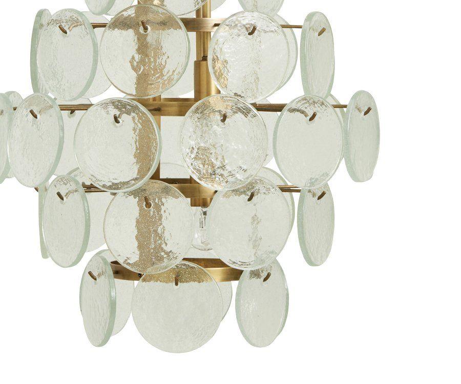 Suspension lustre verre et laiton VICCI - Nordal