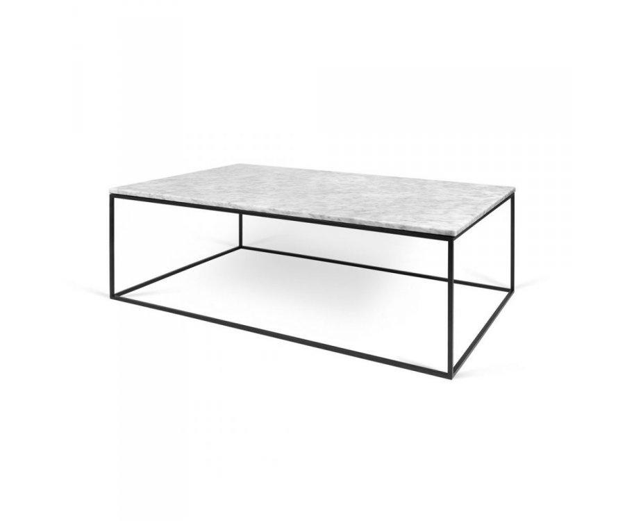 Table basse design marbre et métal SOFIA