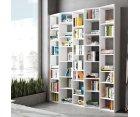 Grande bibliothèque design en bois BASOUME - Temahome