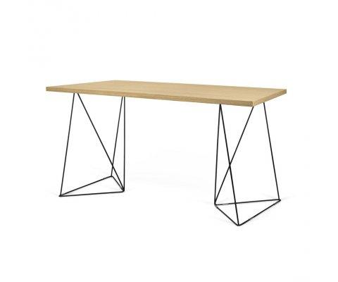 Bureau design bois et métal FLAMI - Temahome