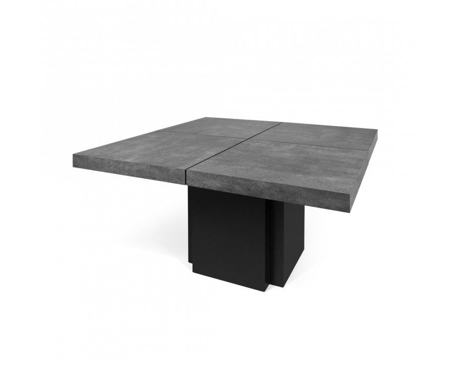 Table à manger carrée 130cm en béton HUBIBA - Temahome