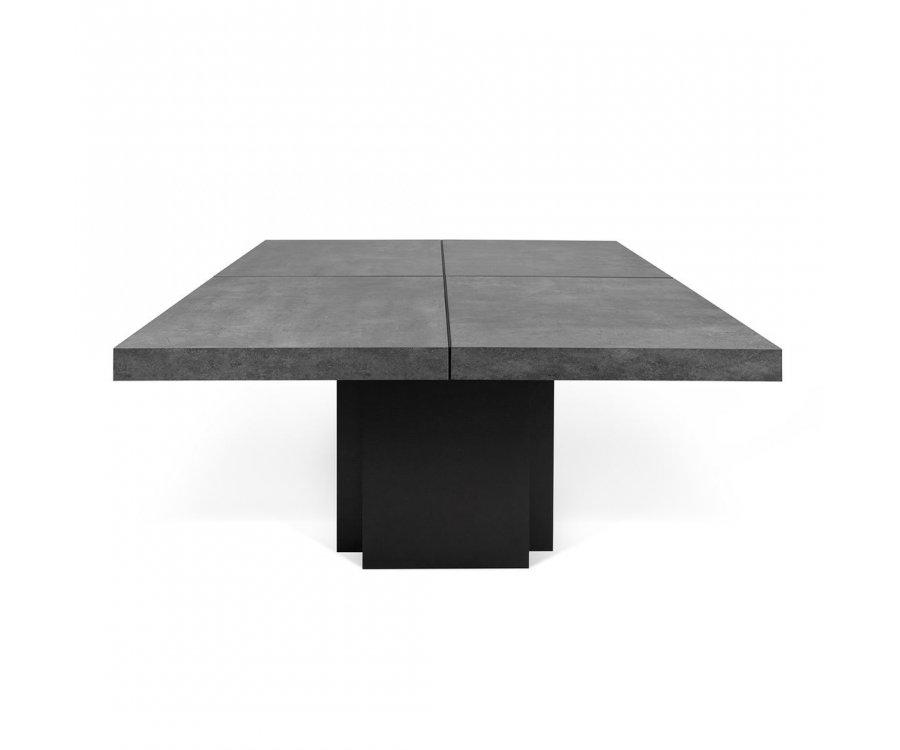 Table à manger en béton 150x150cm HUBIBA - Temahome