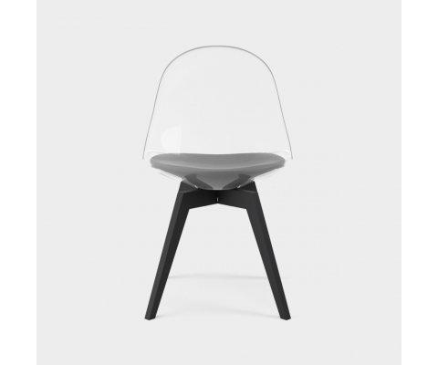 Lot de 2 chaises transparentes scandinave-SUROIPO