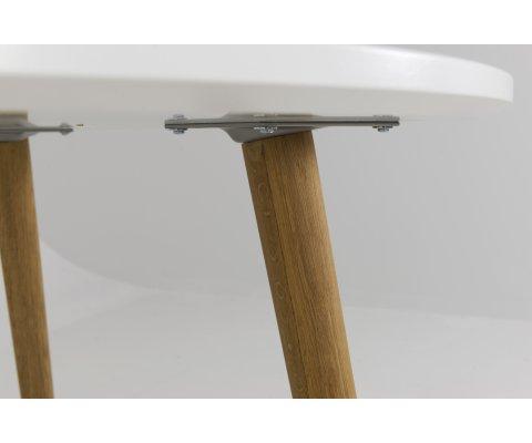 Table à manger ronde scandinave-ZENIO