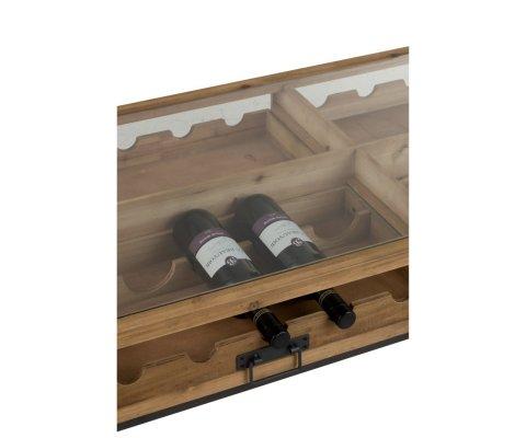 Table basse bois avec rangements bouteilles FACOLPA - J-line