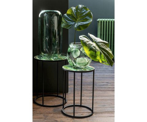 Lot de 2 tables gigognes rondes mosaique RALBOLI - J-line