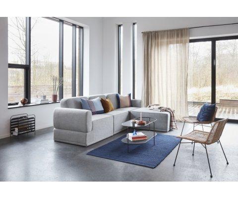 Canapé d'angle 3 places en tissu PAGO - Hubsch