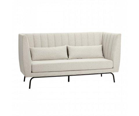 Canapé 2 places en tissu pieds métal WUPEE - Hubsch