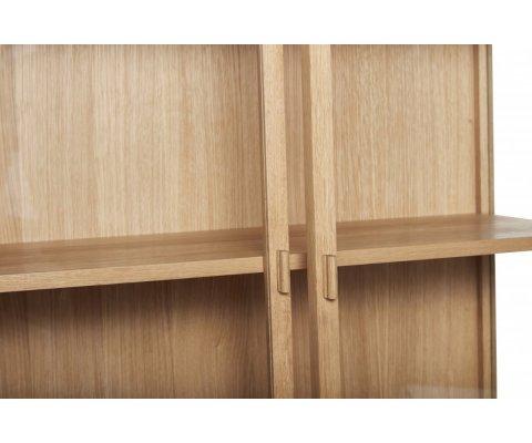 Armoire vitrée 2 portes en bois STUCK - Hubsch