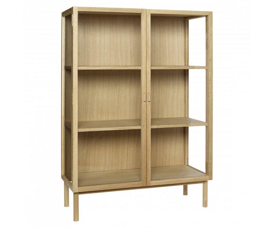 Armoire design en bois 2 portes vitrées BASTID - Hubsch